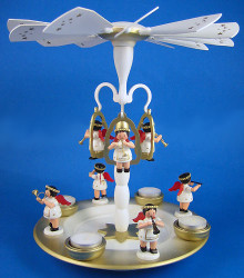 Flying Angel TeaLight German Christmas Carousel
