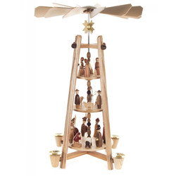 German Carousel Pyramid Traditional Style