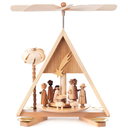 German Christmas Pyramid Nativity Palm