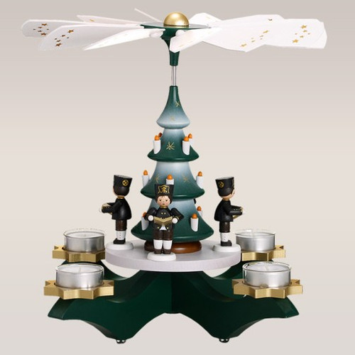 Green Tealight Candle Miners Pyramid