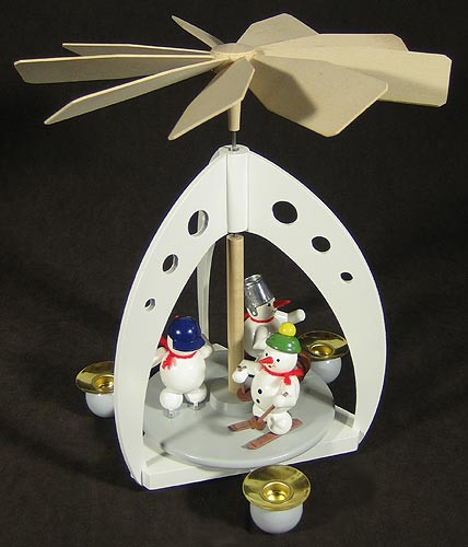Holiday White Snowmen Pyramid