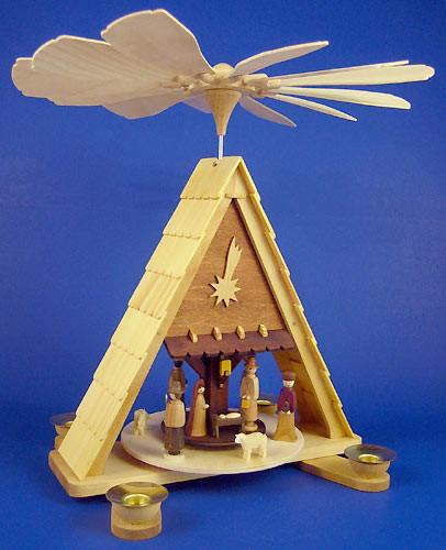 Manger Nativity Christmas Pyramid