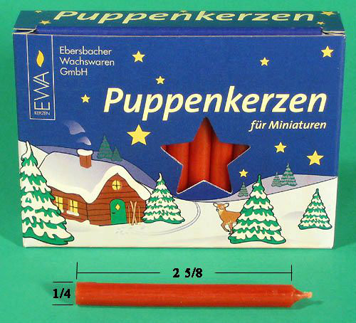 German Pyramid Candles Mini Red 7.5mm