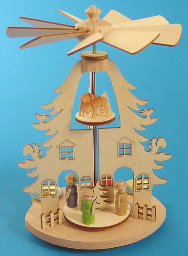 Mini Pyramid Tree House Christkindl Markt German Gifts