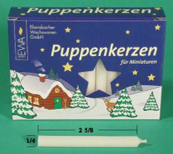 German Pyramid Candles Mini White 7.5mm