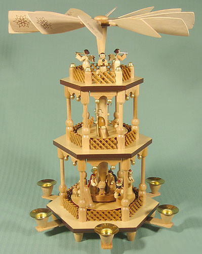 Nativity Christmas Carousel Pyramid