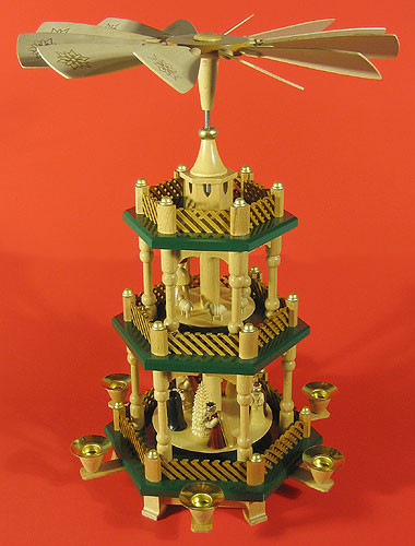 Richard Gl 228 Sser Nativity Christmas German Pyramid Green