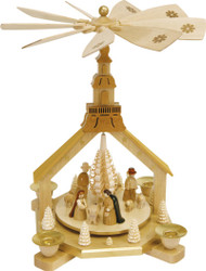 Nativity Pyramid Seiffen Church Frame PYR162X08