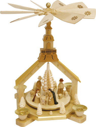Nativity Pyramid Seiffen Church Frame PYR162X08