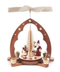 Pyramide mit Bescherung - Santa with Angel Helpers