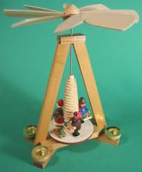 Santa Children Christmas Pyramid