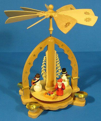 Santa Musical Snowman German Pyramid
