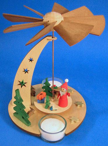 Santa Pyramid TeaLight Candles