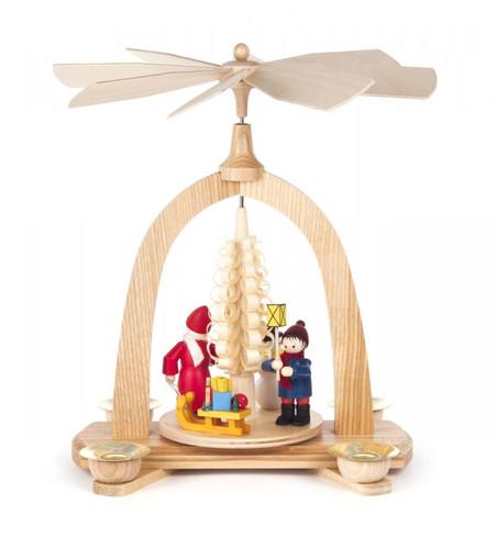 Santa Snowman Children Christmas Pyramid