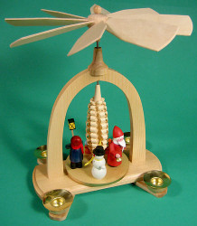 Santa Snowman Children Christmas Pyramid