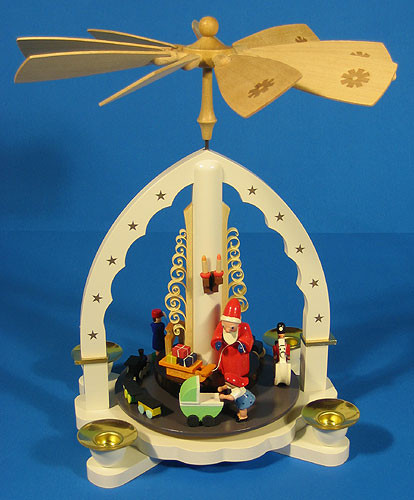 Santa Toys German Carousel Pyramid