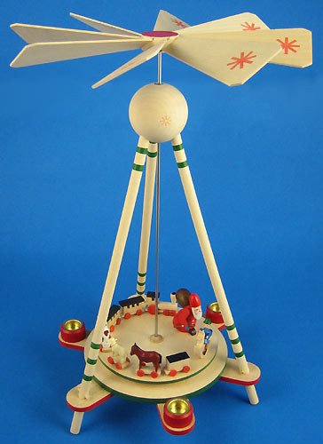 Santa Toys German Christmas Pyramid