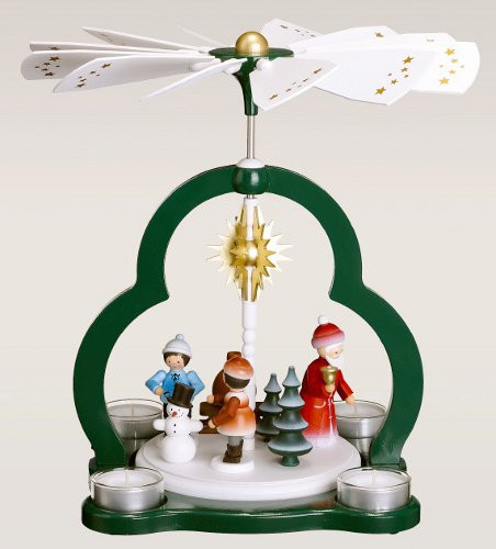 Santa Winter Kids German Carousel Pyramid