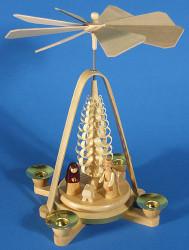 Small Nativity Shaved Tree Pyramid