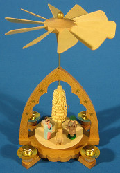 Small Scalloped Arch Nativity Pyramid