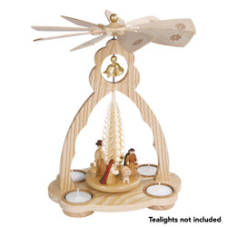 Tea light Nativity German Christmas Pyramid