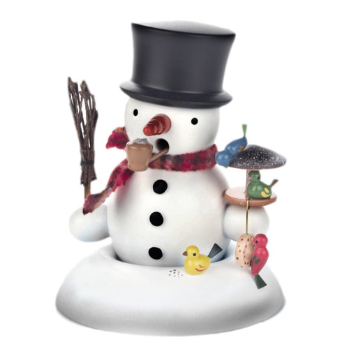 Red Hat Snowman Birdfeeder German Smoker