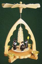 Christmas Carolers German Pyramid