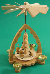 Christmas Children Lantern German Pyramid