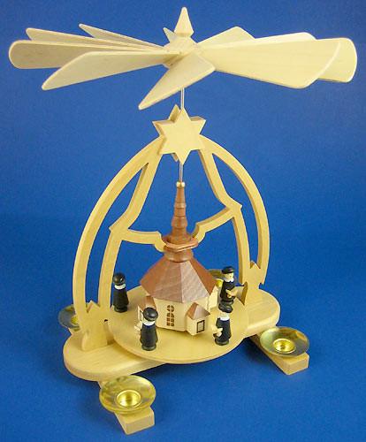 German Carolers Church Christmas Pyramid