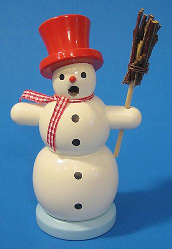Mini Red Hat Snowman Incense German Smoker