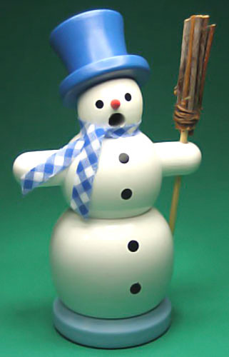 Mini Snowman Blue Incense German Smoker