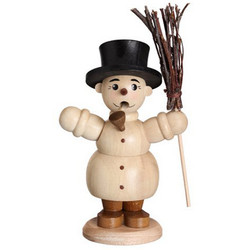 Mini Snowman Incense German Smoker