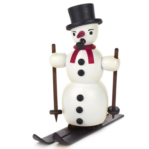 Mini Snowman Skis German Smoker Red