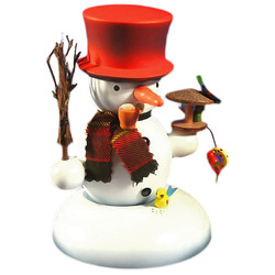 Red Hat Snowman Birdfeeder German Smoker SMD146X864R