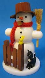 Snowman Cat Incense German Smoker