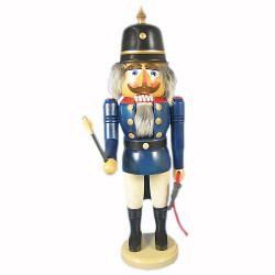 Blue Fireman German Nutcracker