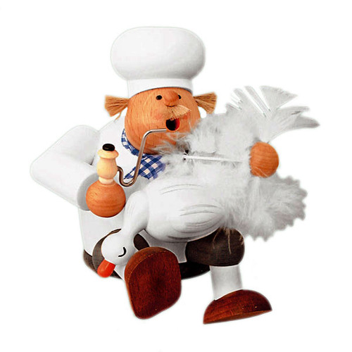 Chef Plucking Goose German Smoker
