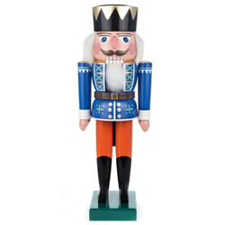 King Blue Pumpkin German Nutcracker NCD022X020XB