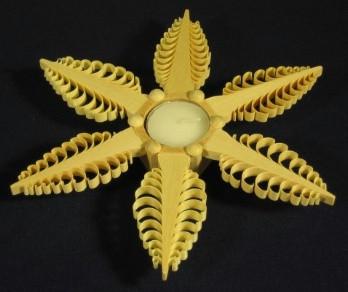 Large Shaved Star Candleholder