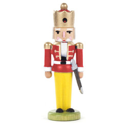 Mini Nutcracker King Figurine Red