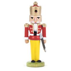 Mini Nutcracker King Figurine Red