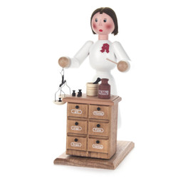 Pharmacist Lady German Cone Incense Smoker