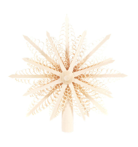 Shaved Star Tree Topper Ornament