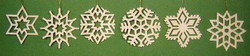 Six Snowflake Lovely Ornaments