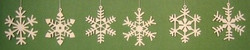 Six Snowflakes Elegant Ornaments