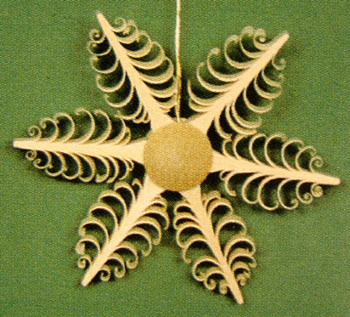 Small Shaved Star Ornament