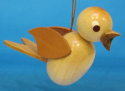 Wooden Natural Bird German Ornament ORD198X082N