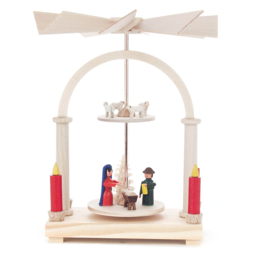 2 Level Mini German Pyramid Nativity Sheep