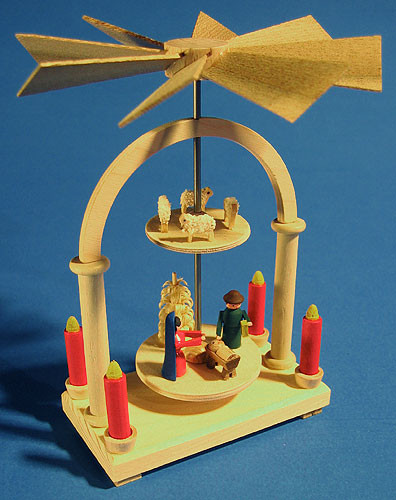 2 Level Mini German Pyramid Nativity Sheep