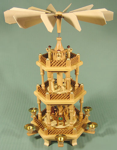 3 Level German Pyramid Nativity